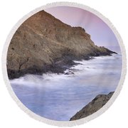 Waiting For The Moon Round Beach Towel