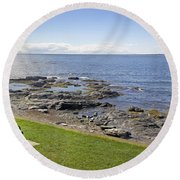 Waiting For You Round Beach Towel