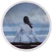 Waiting In The Wind Round Beach Towel by Joana Kruse