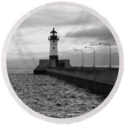 Waiting On Gales Round Beach Towel