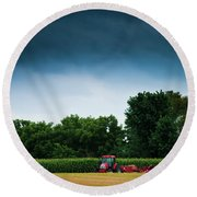 Waiting Out The Storms Round Beach Towel by Christi Kraft