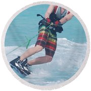 Wakeboarding Style Round Beach Towel