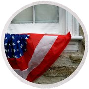 Waldschmidt Homestead And Bunting Round Beach Towel