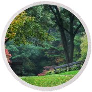 Walk In The Park Round Beach Towel by Christina Rollo