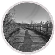 Walk This Way... Round Beach Towel