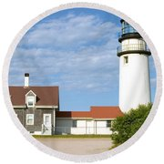 Walk To The Lighthouse Round Beach Towel