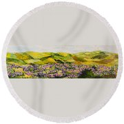 Walking Hills Round Beach Towel