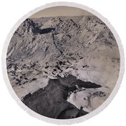 Walking On The Moon Round Beach Towel by Laurie Search