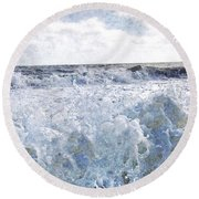 Walking On Water I Round Beach Towel