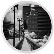 Walking To Knoxville Round Beach Towel