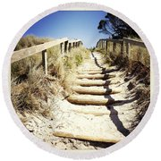 Walkway Round Beach Towel by Les Cunliffe