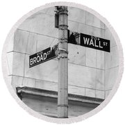 Wall And Broad Round Beach Towel