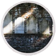 Wall Of Tombstones Knocked Down During Civil War Round Beach Towel