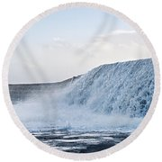 Wall Of Water Round Beach Towel