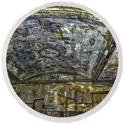 Ceiling And Wall Paintings Round Beach Towel