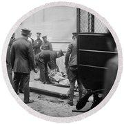 Wall Street Bombing, 1920 Round Beach Towel
