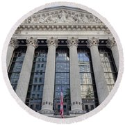 Wall Street New York Stock Exchange Nyse  Round Beach Towel