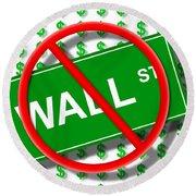 Wall Street No Round Beach Towel