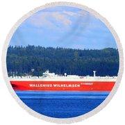 Wallenius Wilhelmsen Logistics Tamerlane Ship Round Beach Towel