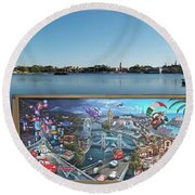 Walt Disney World Cars 2 Digital Art Composite 02 Round Beach Towel