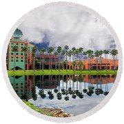Walt Disney World Swan Hotel  Round Beach Towel