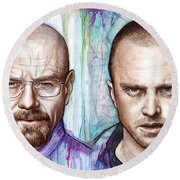Walter And Jesse - Breaking Bad Round Beach Towel