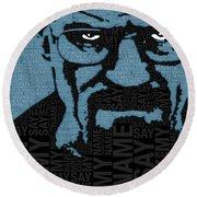 Walter White Heisenberg Breaking Bad Round Beach Towel