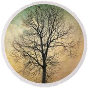Waltz Of A Tree Round Beach Towel