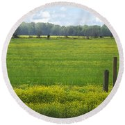 Wandering Hwy 51 Mississippi Round Beach Towel