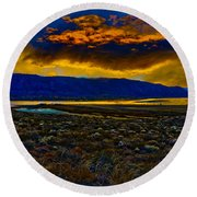 Waning Light Round Beach Towel