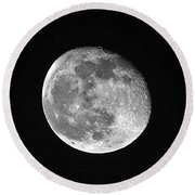 Waning Pink Moon Round Beach Towel by Al Powell Photography USA