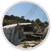 War Of The Worlds - Universal Studios Round Beach Towel