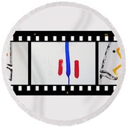 War Painting Round Beach Towel