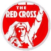 War Poster - Ww1 - Help The Red Cross Round Beach Towel