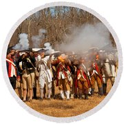 War - Revolutionary War - The Musket Drill Round Beach Towel by Mike Savad