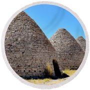 Ward Charcoal Ovens Round Beach Towel