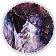 Warehouse Angel / Through The Broken Glass Round Beach Towel