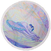 Warm And Secure Place For Your Soul Round Beach Towel