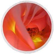 Warm Glow Pink Rose 2 Round Beach Towel