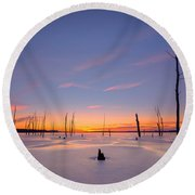 Warm Ice Round Beach Towel
