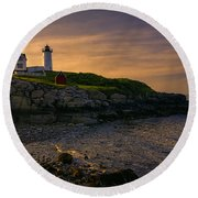 Warm Nubble Dawn Round Beach Towel