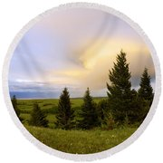 Warm The Soul Round Beach Towel by Chad Dutson