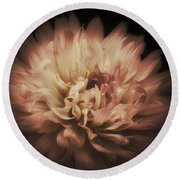 Warmth Of A Dahlia Round Beach Towel