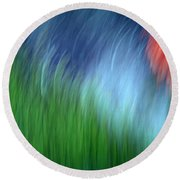 Warmth Of The Heart Round Beach Towel