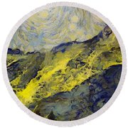 Wasatch Range Spring Colors Round Beach Towel