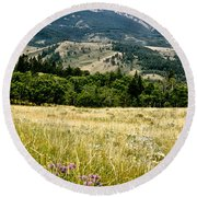 Washake Wilderness Round Beach Towel