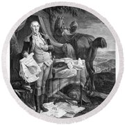 Washington At Yorktown Round Beach Towel