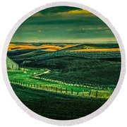 Washington Barn 6 Round Beach Towel