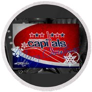 Washington Capitals Christmas Round Beach Towel