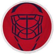 Washington Capitals Goalie Mask Round Beach Towel